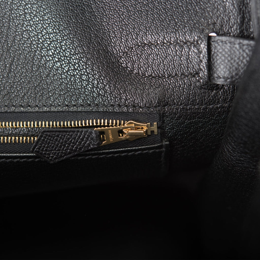 Hermes Black Epsom Birkin 30cm Gold Hardware (Preloved - Excellent)