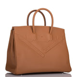 Hermes Gold Swift Shadow Birkin 35cm Palladium Hardware