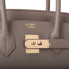 Hermes HSS Bi-Color Etain and Cuivre Togo Birkin 30cm Permabrass Hardware