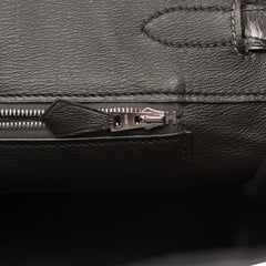 Hermes HSS Bi-Color Gris Tourterelle and Graphite Shiny Porosus Crocodile Birkin 35cm Brushed Palladium Hardware
