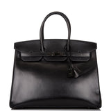 Hermes SO Black Box Birkin 35cm Black Hardware (Preloved - Excellent)
