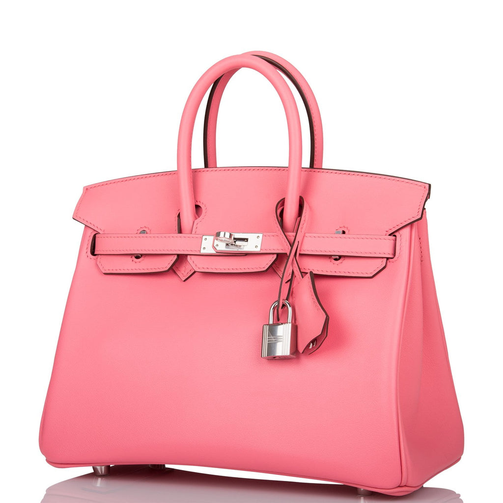 Hermes Rose D'Ete Swift Birkin 25cm Palladium Hardware