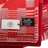 "Hermes ""Avalon Paper Block"" Tangerine and Carmin Blanket"