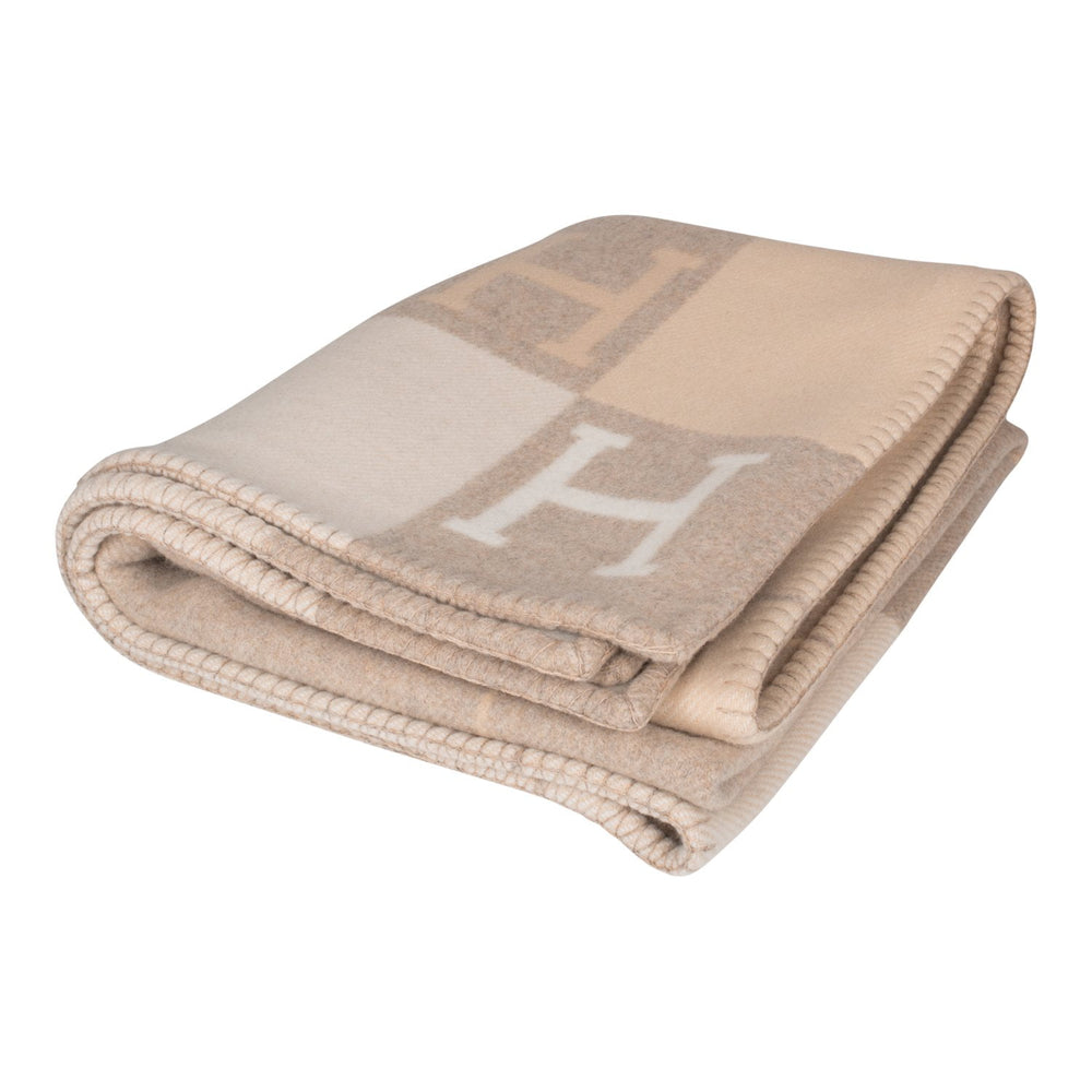"Hermes ""Classic Avalon"" Coco and Camomille Blanket"