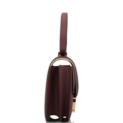 Hermes HSS Bi-Color Bordeaux and Gris Tourterelle Epsom Mini Constance 18cm Rose Gold Hardware