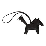Hermes SO Black Horse Rodeo Touch Bag Charm PM