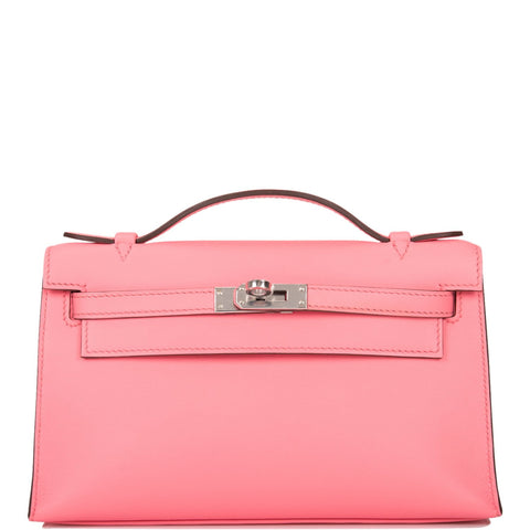 Hermes Rouge Casaque Epsom Mini Kelly Pochette