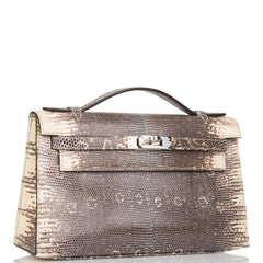 Hermes Ombre Lizard Mini Kelly Pochette Palladium Hardware