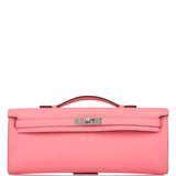 Hermes Rose D'ete Swift Kelly Cut Palladium Hardware