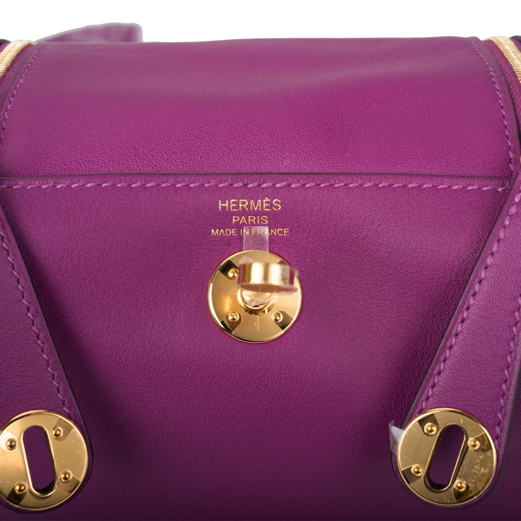Hermes Anemone Swift Mini Lindy Gold Hardware