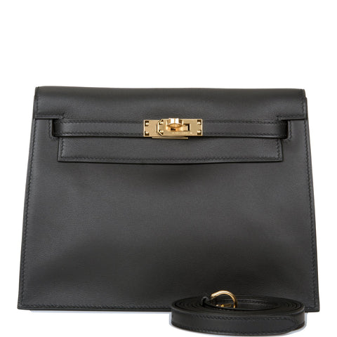 Hermes Black Swift Kelly Danse Gold Hardware
