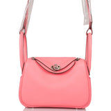Hermes Rose D'Ete Swift Mini Lindy Palladium Hardware