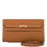 Hermes Gold Epsom Kelly Wallet To Go Gold Hardware