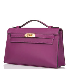 Hermes Anemone Swift Mini Kelly Pochette Gold Hardware