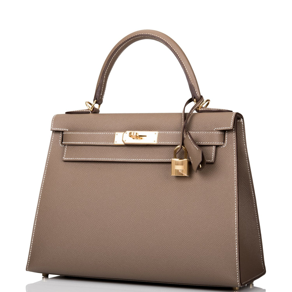 Hermes Etoupe Epsom Sellier Kelly 28cm Gold Hardware