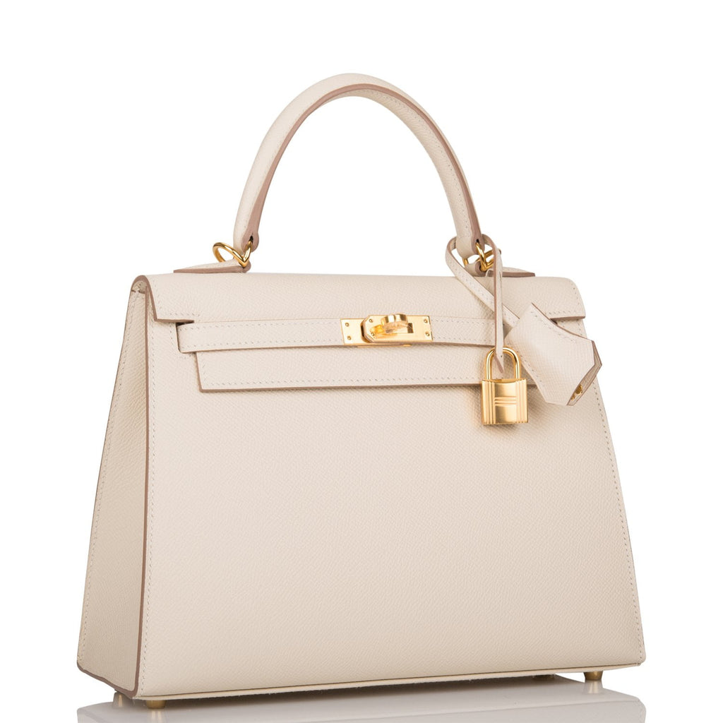 Hermes Craie Epsom Sellier Kelly 25cm Gold Hardware