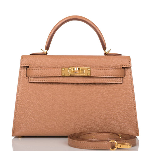 Hermes Quebracho Chevre Sellier Kelly 20cm Gold Hardware