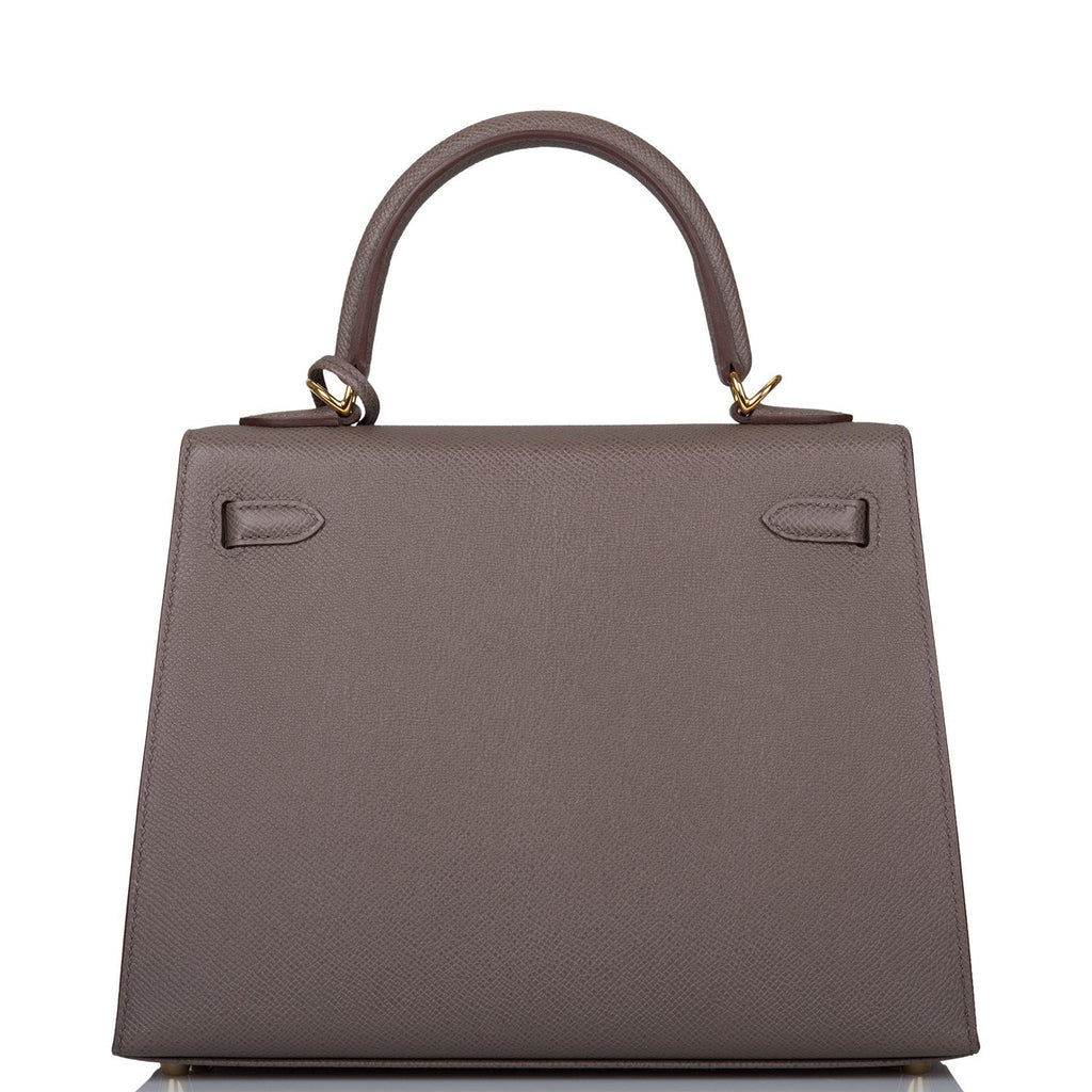 Hermes Etain Epsom Sellier Kelly 25cm Gold Hardware