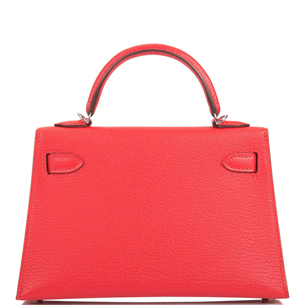 Hermes Rouge de Coeur Chevre Sellier Kelly 20cm Palladium Hardware