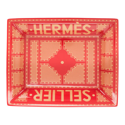"Hermes ""Sellier"" Porcelain Change Tray"