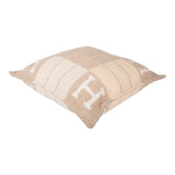 "Hermes ""Avalon III"" Coco and Camomille Signature H Cushion PM Set of two"