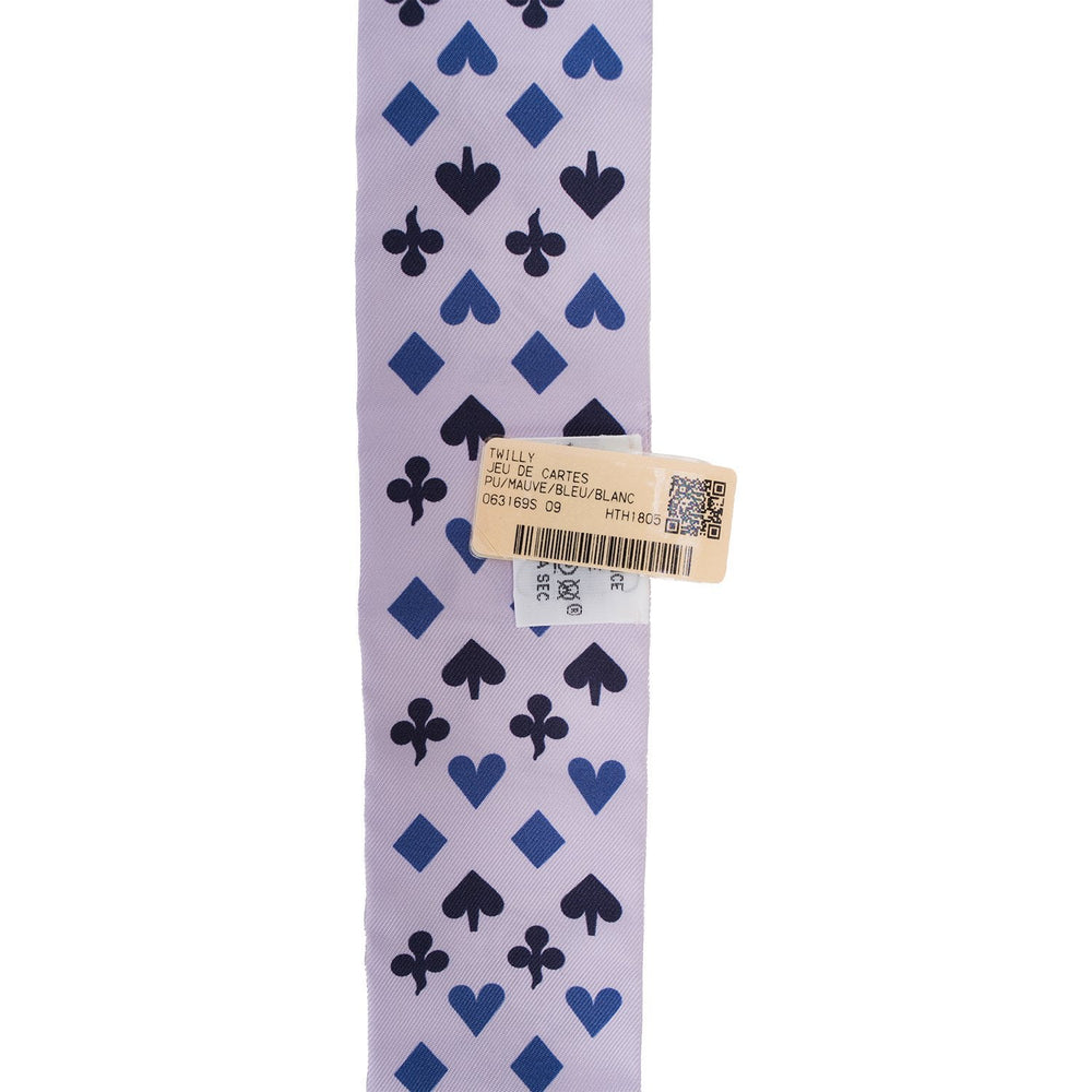 "Hermes ""Jeu De Cartes"" Silk Twilly"