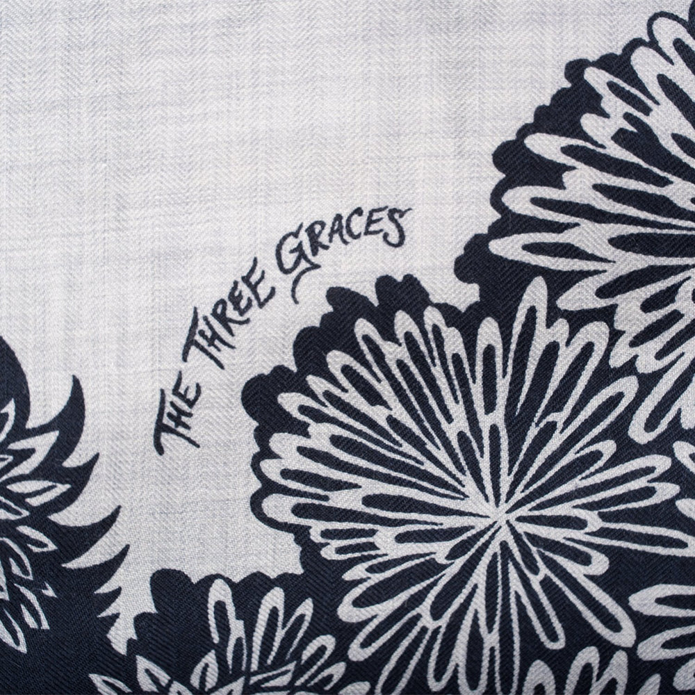 "Hermes ""The Three Graces"" Cashmere and Silk Shawl 140cm"