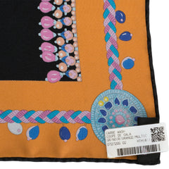 "Hermes ""Coupe de Gala"" Washed Silk Twill Scarf 90cm"