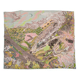 "Hermes ""Into the Canadian Wild"" Silk Twill Scarf 90cm"