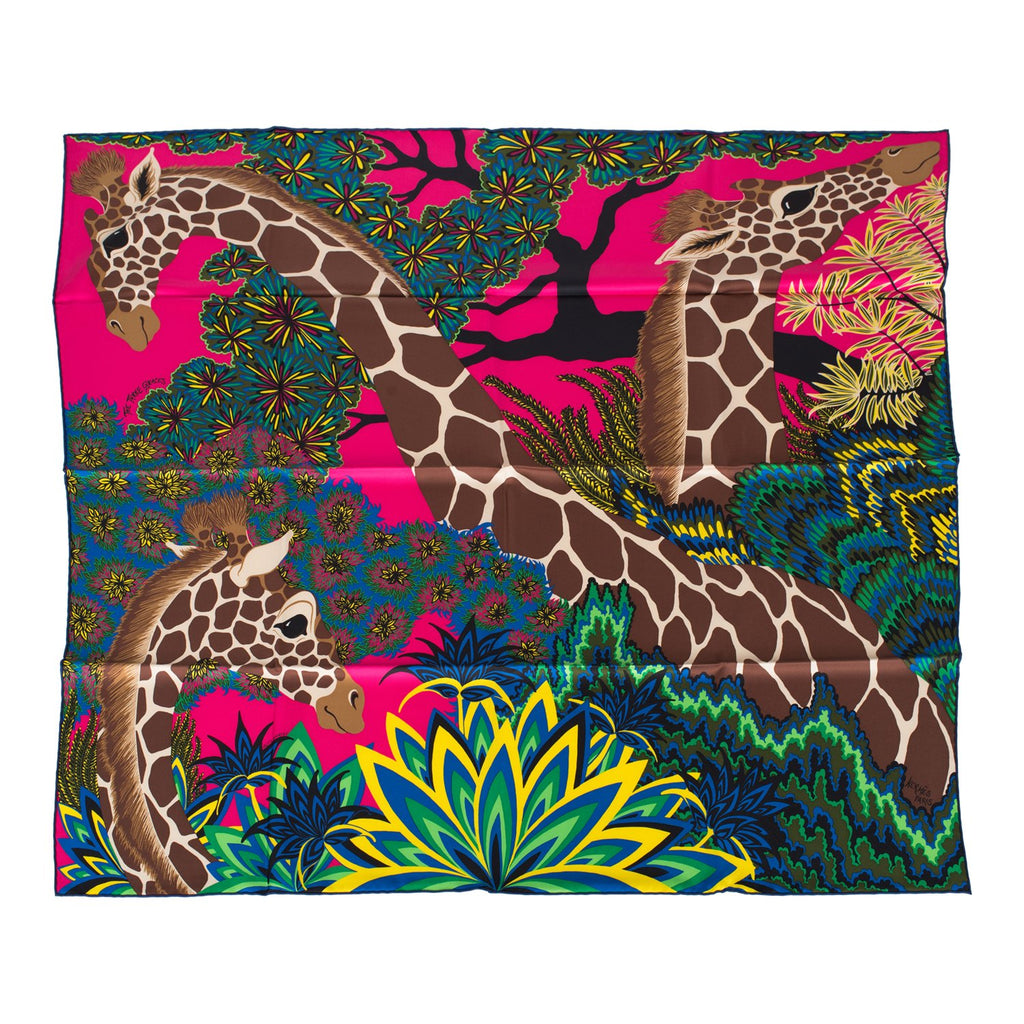 "Hermes ""The Three Graces"" Silk Twill Scarf 90cm"