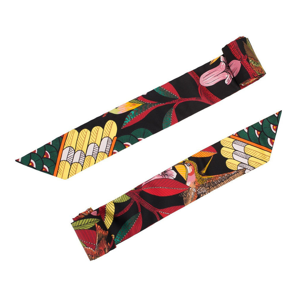 "Hermes ""Tree of Song"" Silk Twilly Pair"