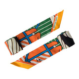 "Hermes ""Quadridge Bayadere"" Silk Twilly Pair"