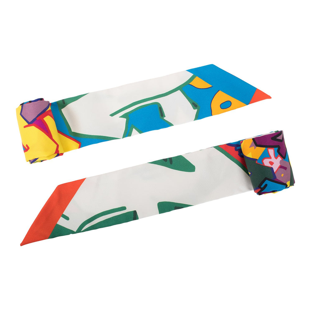 "Hermes ""Graff"" (Graffiti) Silk Twilly Pair"