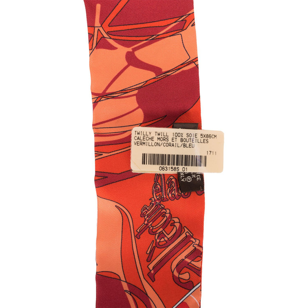 "Hermes ""Caleche Mors Et Boutilles"" Silk Twilly Pair"