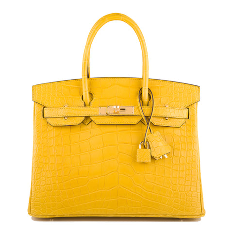 Hermes HSS SO Bi-Color White and Bamboo Clemence Birkin 25cm Brushed Gold Hardware