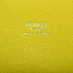 Hermes Lime Chevre Mini 1923 Bolide Palladium Hardware