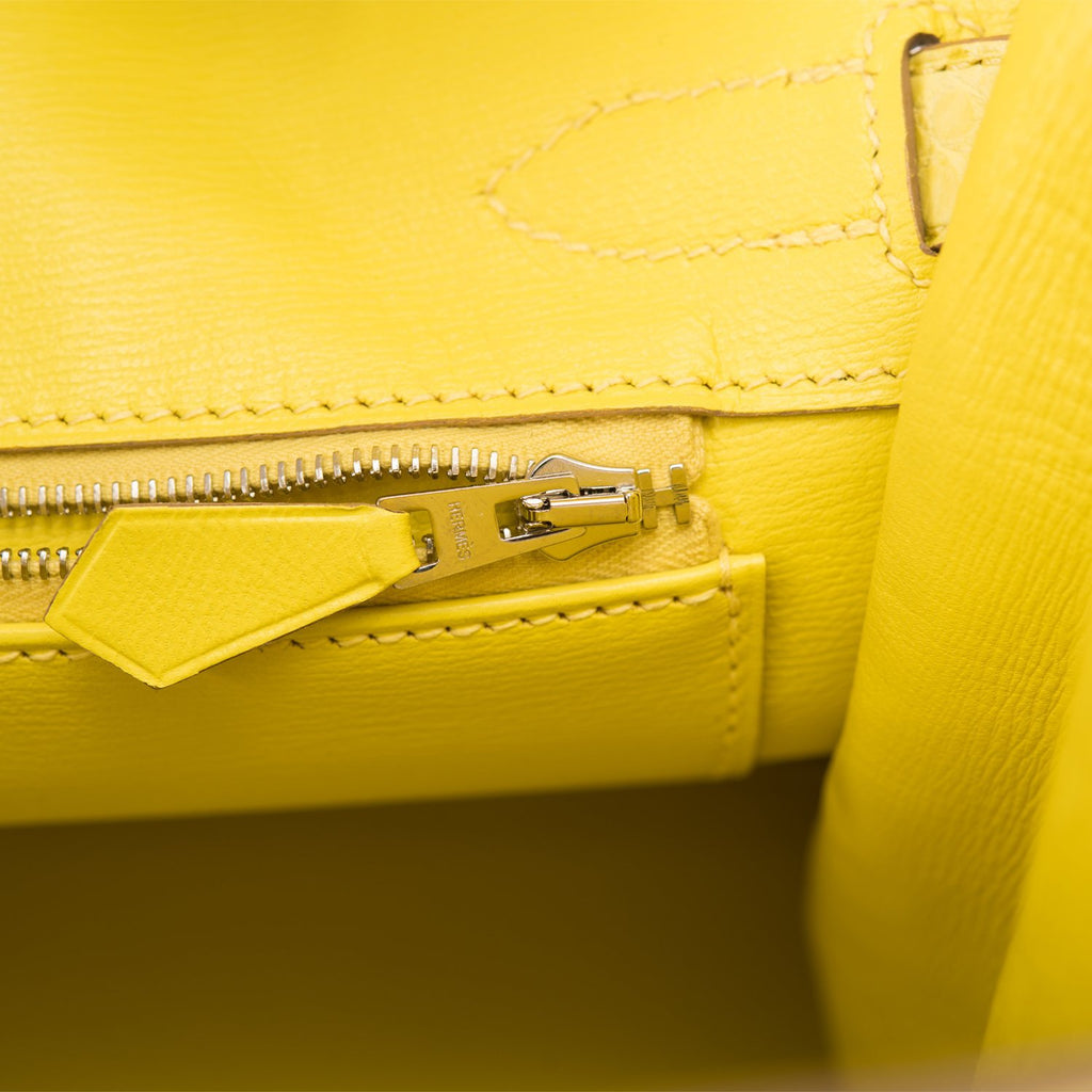Hermes Lime Matte Alligator Birkin 30cm Palladium Hardware