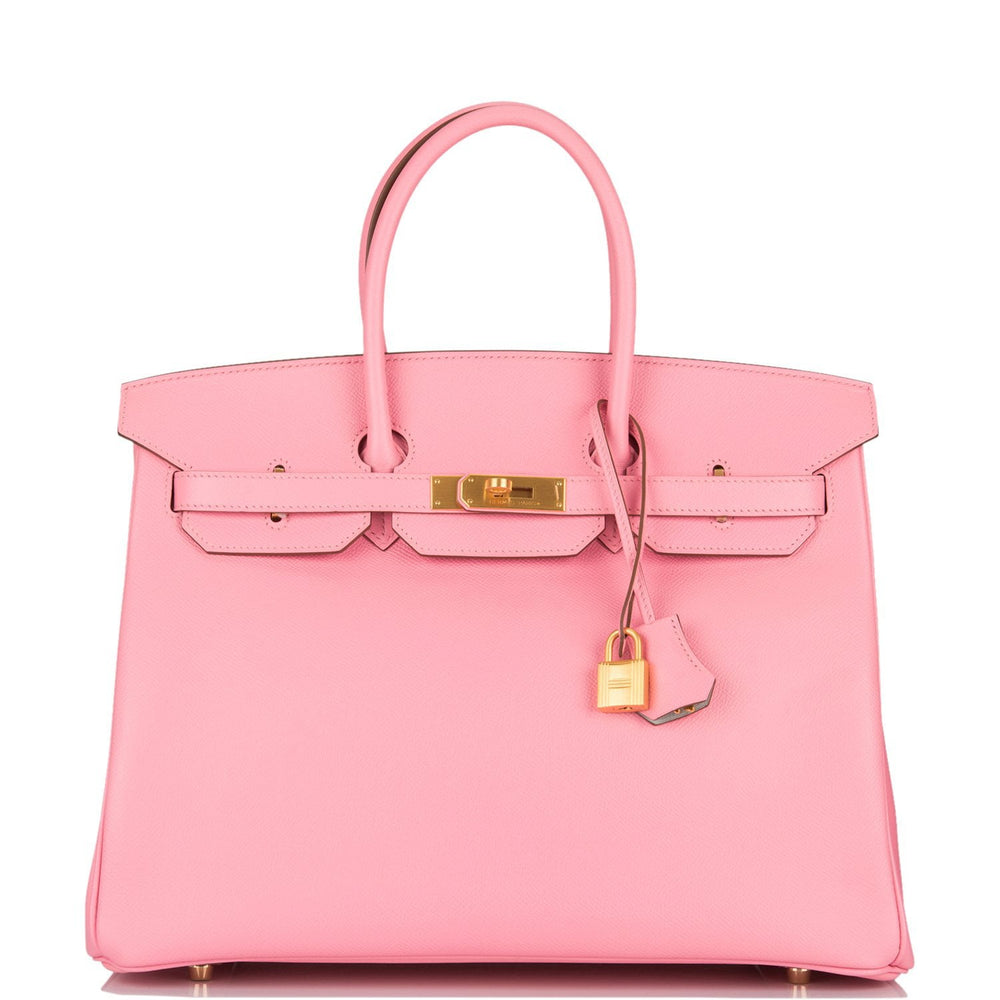 Hermes HSS Bi-Color Rose Confetti and Gris Perle Epsom Birkin 35cm Brushed Gold Hardware