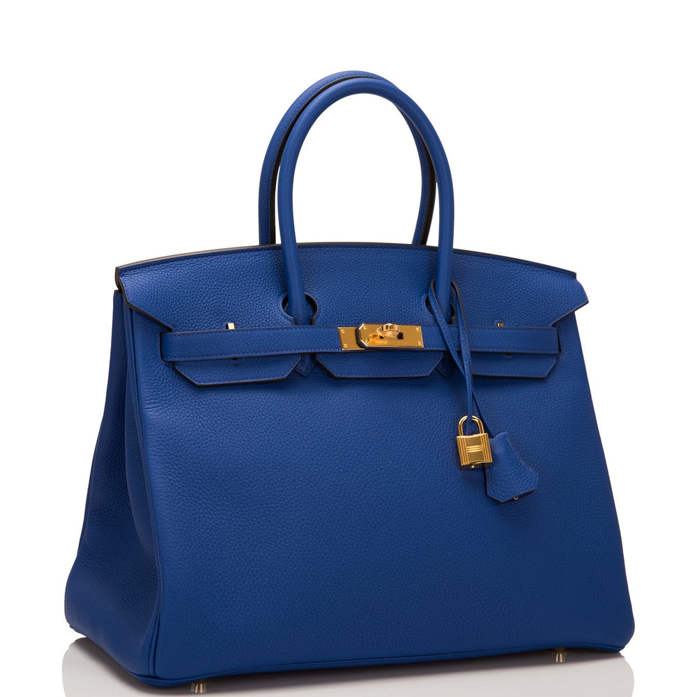 Hermes Blue Electric Togo Birkin 35cm Gold Hardware