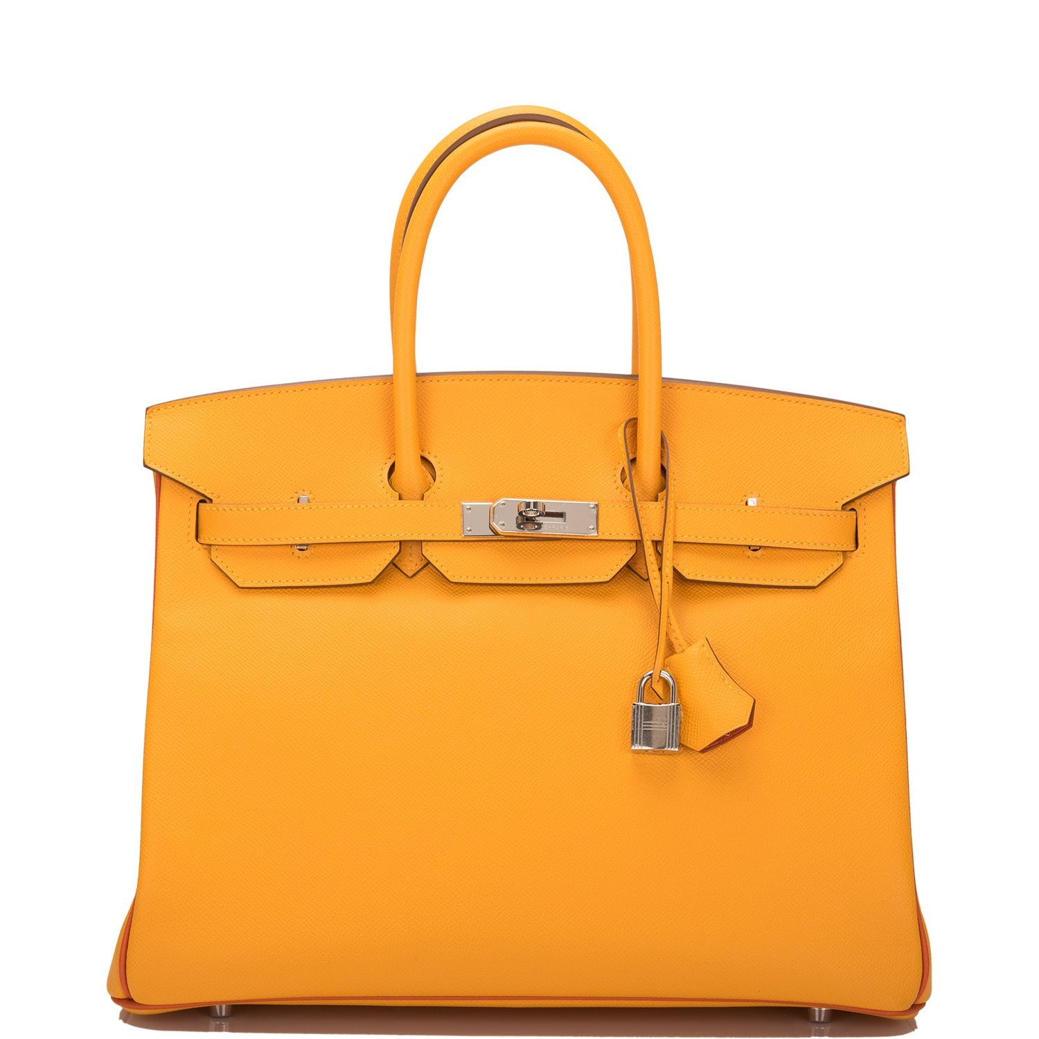 Hermes HSS SO Bi-Color Jaune D'Or and Sanguine Epsom Birkin 35cm Palladium Hardware