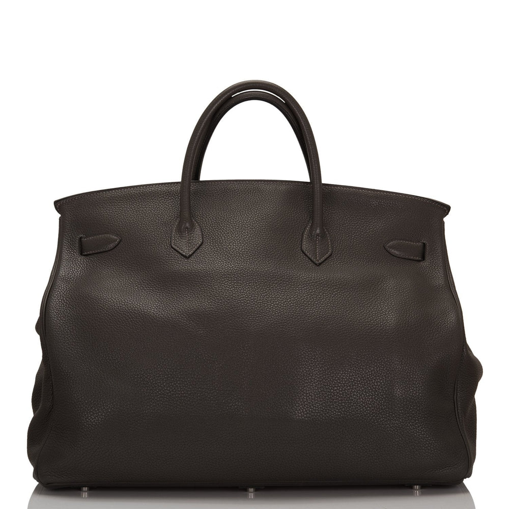 Hermes Graphite Clemence Travel Birkin 50cm Palladium Hardware (Preloved - Mint)
