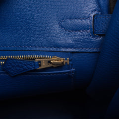 Hermes Blue Electric Togo Birkin 25cm Gold Hardware