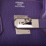 Hermes Iris Togo Birkin 35cm Palladium Hardware (Preloved - Excellent)