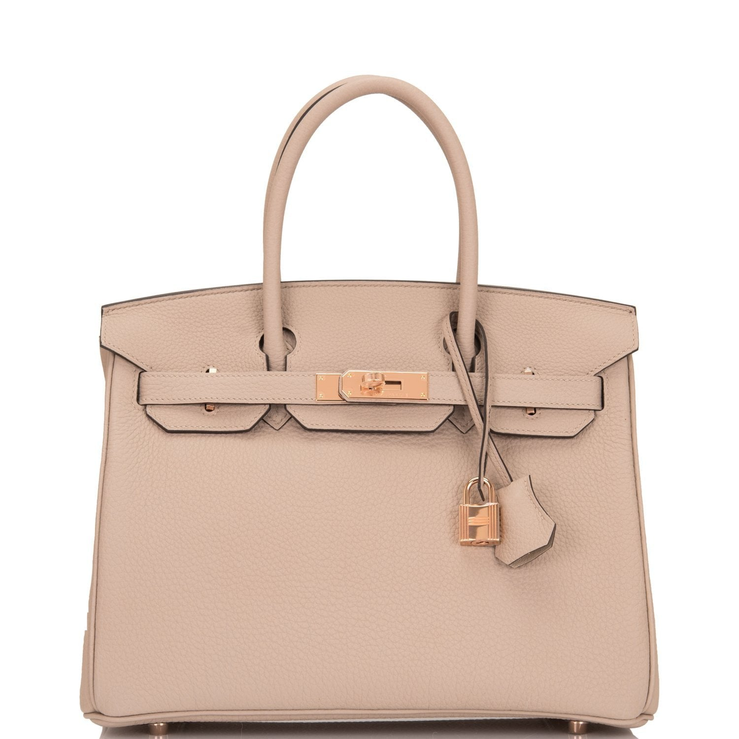 5ce93dcda1f9 Hermes Gris Tourterelle Togo Birkin 30cm Rose Gold Hardware – Madison  Avenue Couture