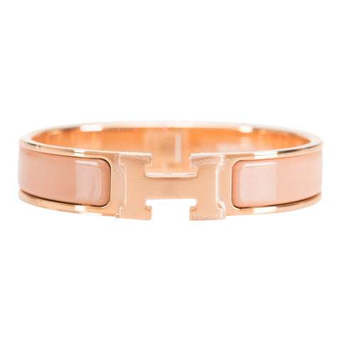 Hermes Make Up Clic Clac H Narrow Enamel Bracelet PM