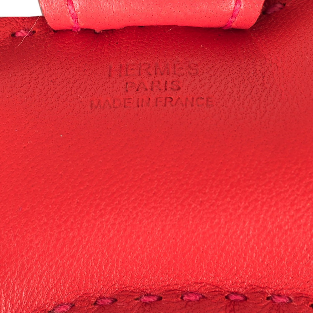 Hermes Rouge Indien/Gold/Bougainvillea Grigri Horse Rodeo Bag Charm PM