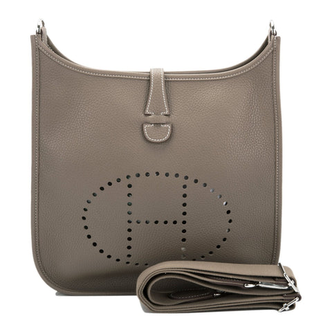 Hermes Black Clemence Evelyne TPM Bag Gold Hardware