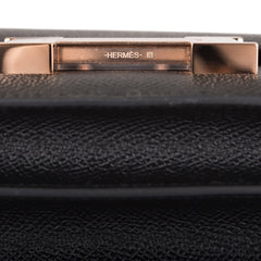 Hermes Black Epsom Mini Constance 18cm Rose Gold Hardware