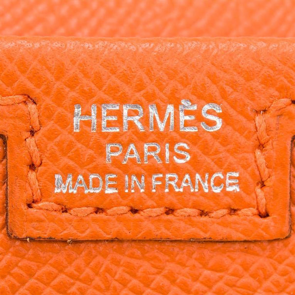 Hermes Orange H Epsom Jige Elan Clutch 29cm