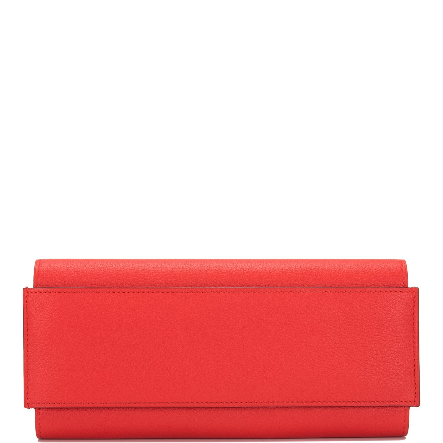 Hermes Rouge Grenat Evercolor Passant Long Wallet